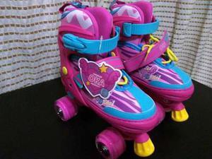 Patines Rollerskate Niña Marca Oka