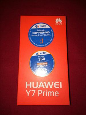 Ocacion Huawei Y7 Prime Nuevo en Caja