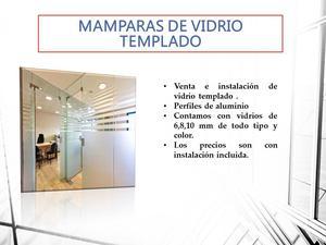 MAMPARAS DE VIDRIO TEMPLADO