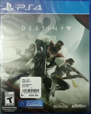 Juego Destiny 2 Ps4