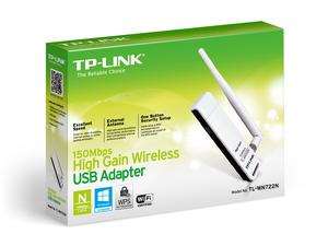 TPLINK ADAPTADOR USB INALÁMBRICO DE ALTA GANANCIA 150MBPS