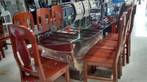 Remato juego de comedor 8 sillas vidrio templado posot class for Comedor 8 sillas usado