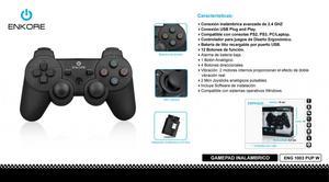jostyck Gamepad Inalambrico Enkore Eng  Pup Usb Ps2 Ps3
