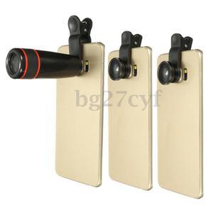 lentes, teleobjetivo, ojo de pez y gran angular para celular