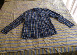 Camisa Tommy Hilfiger Azul/Amarillo Manga Larga Talla L