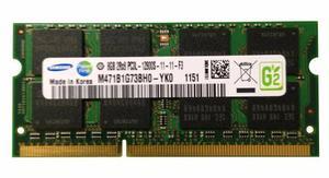 Memoria Samsung Sodimm Ddr3 8gb  Cl11 (m471b1g73bh0-yk0)