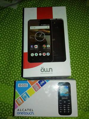 Celular Own y Alcatel One Touch nuevos en caja sin uso