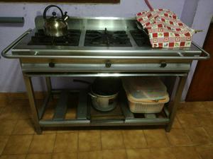 Cocina industrial de acero inoxidable 304 posot class for Estructura de una cocina industrial