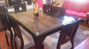 Bonito comedor exagonal 8 sillas posot class for Comedor vidrio 6 sillas