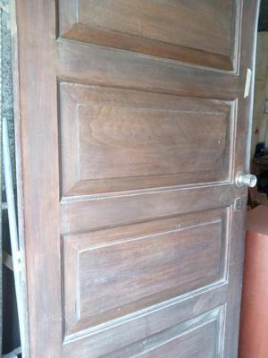 Puerta principal apanelada de madera cedro posot class for Puerta principal de madera