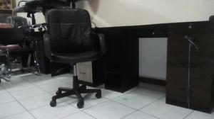 Escritorio con silla infantil melamine posot class for Silla giratoria escritorio