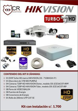 Kit Completo 8 Camaras Hikvision