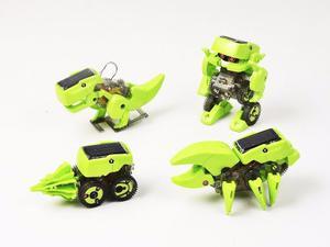 Kit Solar Dinosaurio - Robotica Solar - 4 En 1 Educ.
