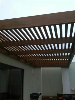 techo sol y sombra de madera y policarbonato posot class. Black Bedroom Furniture Sets. Home Design Ideas