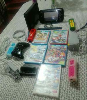 Wii U Consola+6juegos+4mandos Wii U Motionplus+1procontrolle