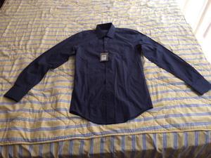 Camisa Givenchy Slim Fit a Rayas Horizontales Azul Talla S