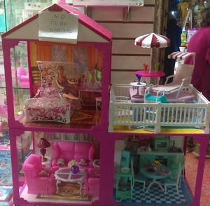 Casa de barbie 3 pisos posot class - La casa de barbie de juguete ...