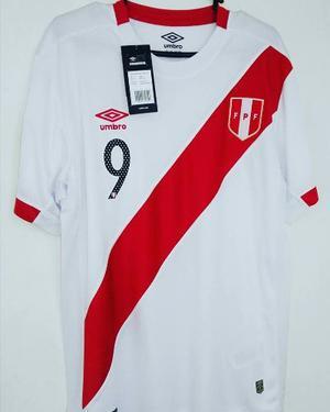 Camiseta Peru Local S M L Xl Guerrero Flores Cueva Farfan