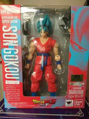 Goku God Ssj Dragon Ball Z Sh Figuarts En Stock Caja Marron