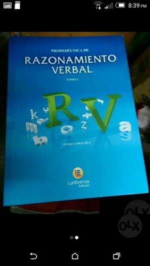 Pack de Libros Raz.verbal Tomo I Y Ii