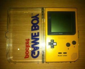 VENDO Game Boy Pocket Amarillo USADO, CON TAPA ORIGINAL MAS