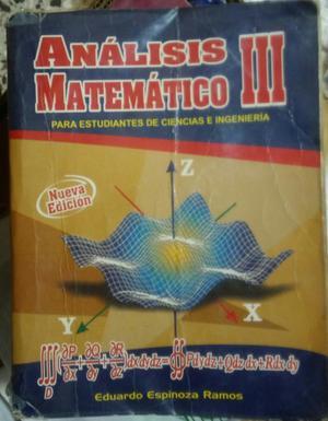 Libro Analisis Matematico Iii E.e.r.