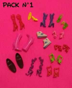 Packs de Zapatitos para Barbie