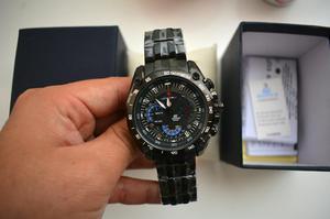 Reloj Casio Edifice Red Bull Todo Negro