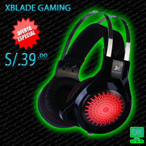 AUDIFONO C/MICROF. XBLADE GAMING SLAYER HG BLACK !!
