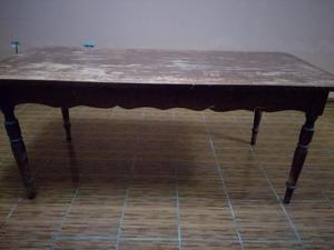 Mesa Antigua de Madera Caoba