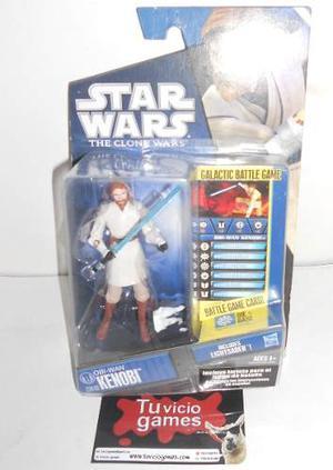 Obi-wan Kenobi Cw40 Incluye Lightsaber Star Wars The Clone W