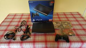 Playstation 3 Ps3 Super Slim 500gb con un Mando y 3 Juegos