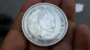 Moneda Conmemorativa Cesar Vallejo 20 Nuevos Soles De Plata