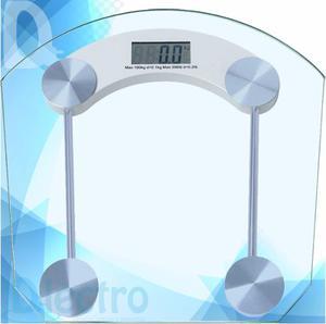 Balanza Digital De Baño Vidrio Hasta 180 Kg - Dlectro
