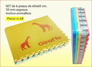 Pisos alfombras de goma eva para bebes 32x32 posot class - Alfombra de goma para piso ...