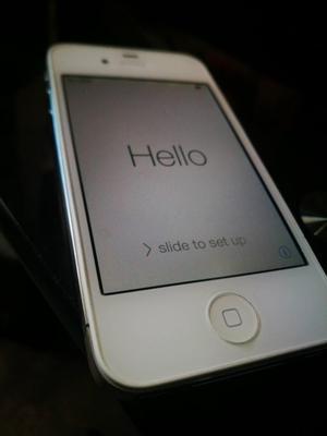 Iphone 4S Blanco de 16GB Libre de icloud