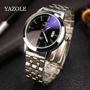 Reloj Yazole Hombre Elegante Acero Inoxidable Fecha