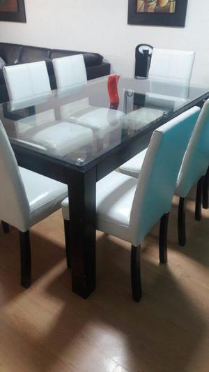 Comedor remato fino moderno elegante x 8 lima posot class for Comedor 10 sillas