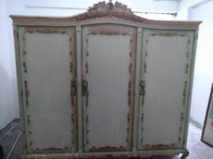 Ropero 3 cuerpos estilo luis xv bidperu posot class for Puertas de madera estilo antiguo
