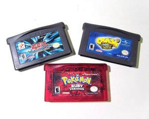 Cassettes Game Boy Advance Pokemon Yugioh Crash