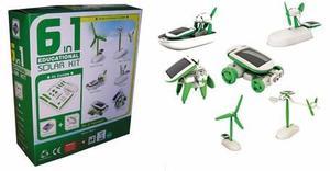Juguete Educativo Solar Kit 6 En 1 Ciencia Robotica