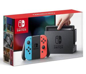 Nintendo Switch, Neon Blue And Red