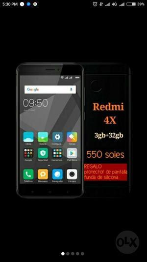 Xiaomi Redmi 4x 3gb 32 Gb Nuevo