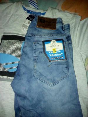 Remato Pantalon Jeans Pitillo Talla 28