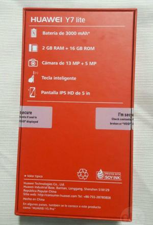 Huawei Y7 lite  nuevo en caja