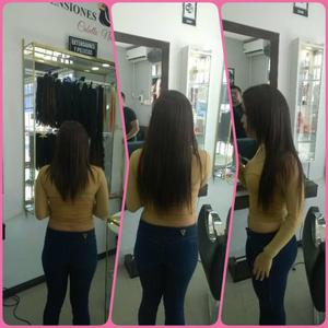 extensiones de 60 cm de largo cabello 100 natural