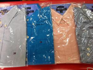 Camisas Tommy Hilfiger Manga Larga 100 Soles Talla S M L Xl