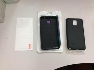 2 Case Para Samsung Galaxy Note 4 Y Mica De Vidrio