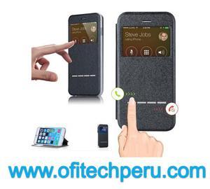 Iphone 6 Plus Flip Cover Funda Con Ventana Táctil