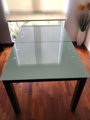 Comedor mesa de vidrio posot class for Mesa vidrio